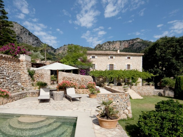 Restored finca overlooking the valley of Esporles with vineyard & citrus grove