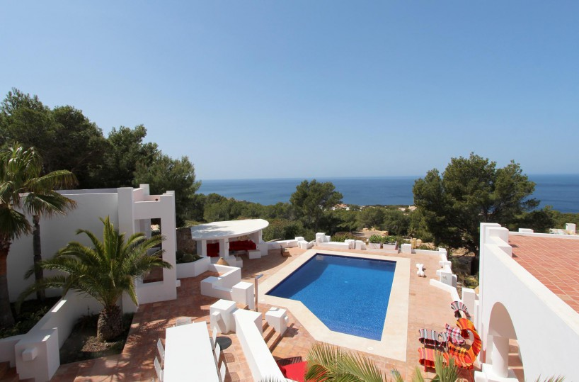 Impressive West Coast Ibiza villa on the front line with direct sea access