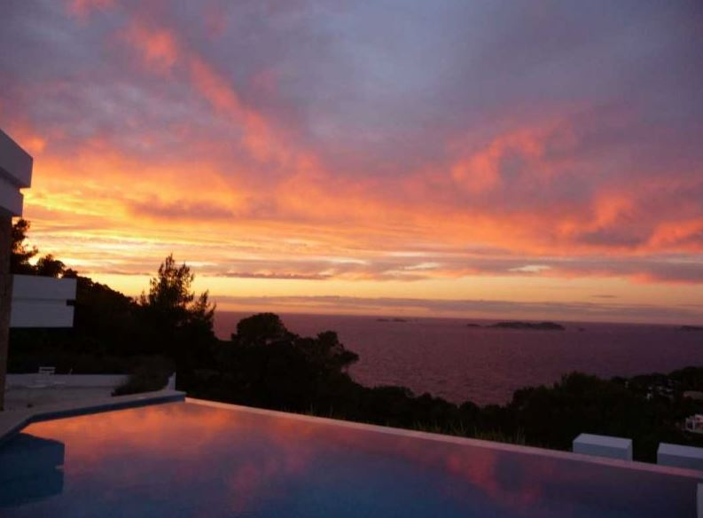 Hilltop villa for sale South West Ibiza near Cala Carbo with Sunset Views
