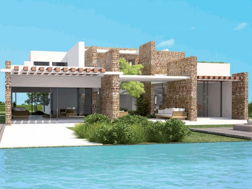 Brand new sea view villas for sale Cala Conta gated community Ibiza