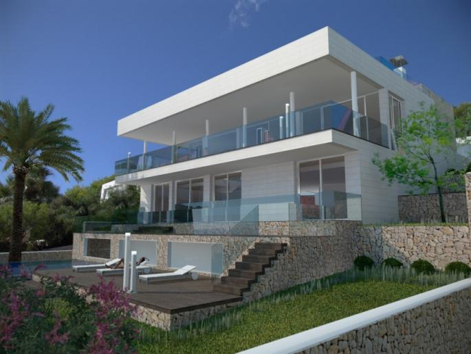 Minimalist new build home for sale in Font de sa Cala, Mallorca