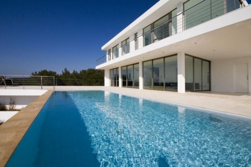 Luxury modern, minimalistic design villa for sale Ibiza Town with sea views