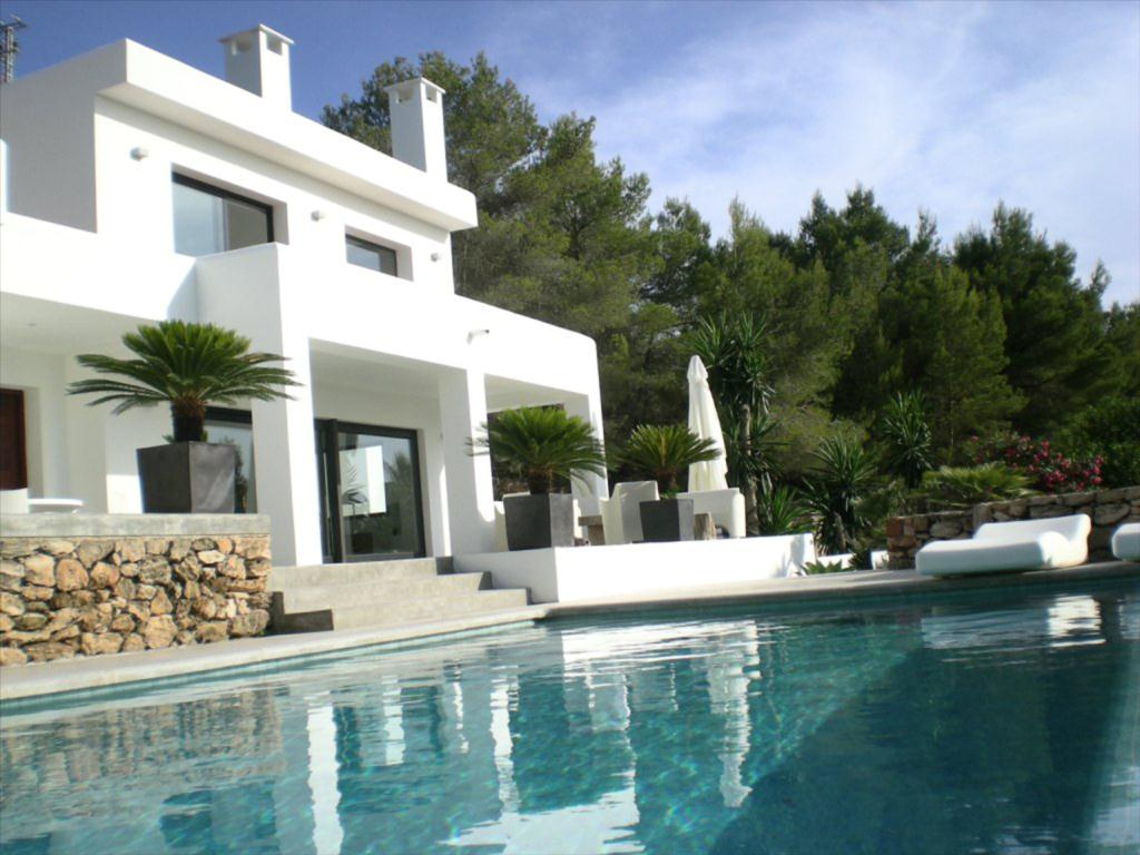 Renovated ibiza contemporary style villa sea views for Modern style houses for sale