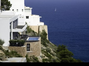 Frontline properties for sale Ibiza. Villas Apartments Penthouses. Seaview homes in Ibiza.